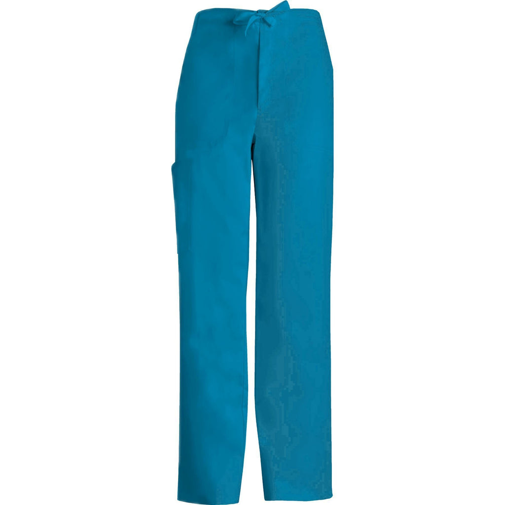 Cherokee Scrub Pants Luxe for Men Fly Front Drawstring Pant Caribbean Blue Pant