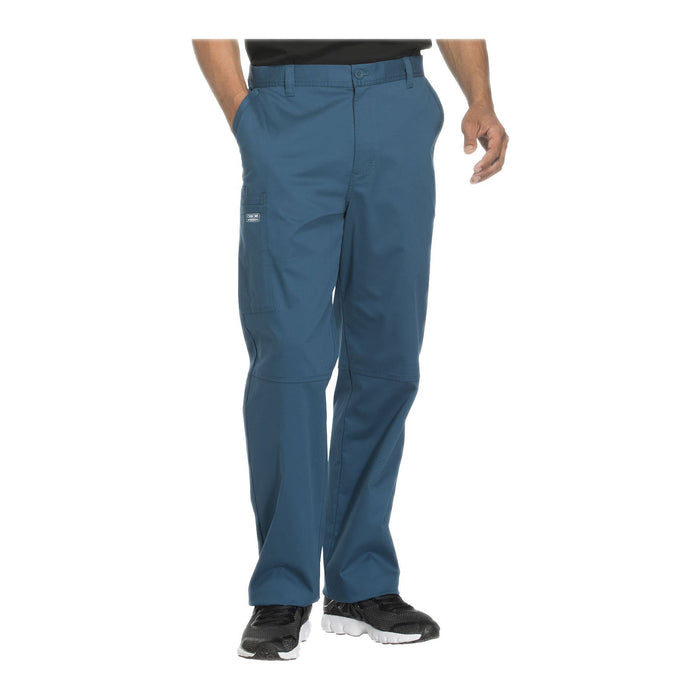 Cherokee Workwear Pant WW Core Stretch Men's Men's Fly Front Pant Caribbean Blue Pant