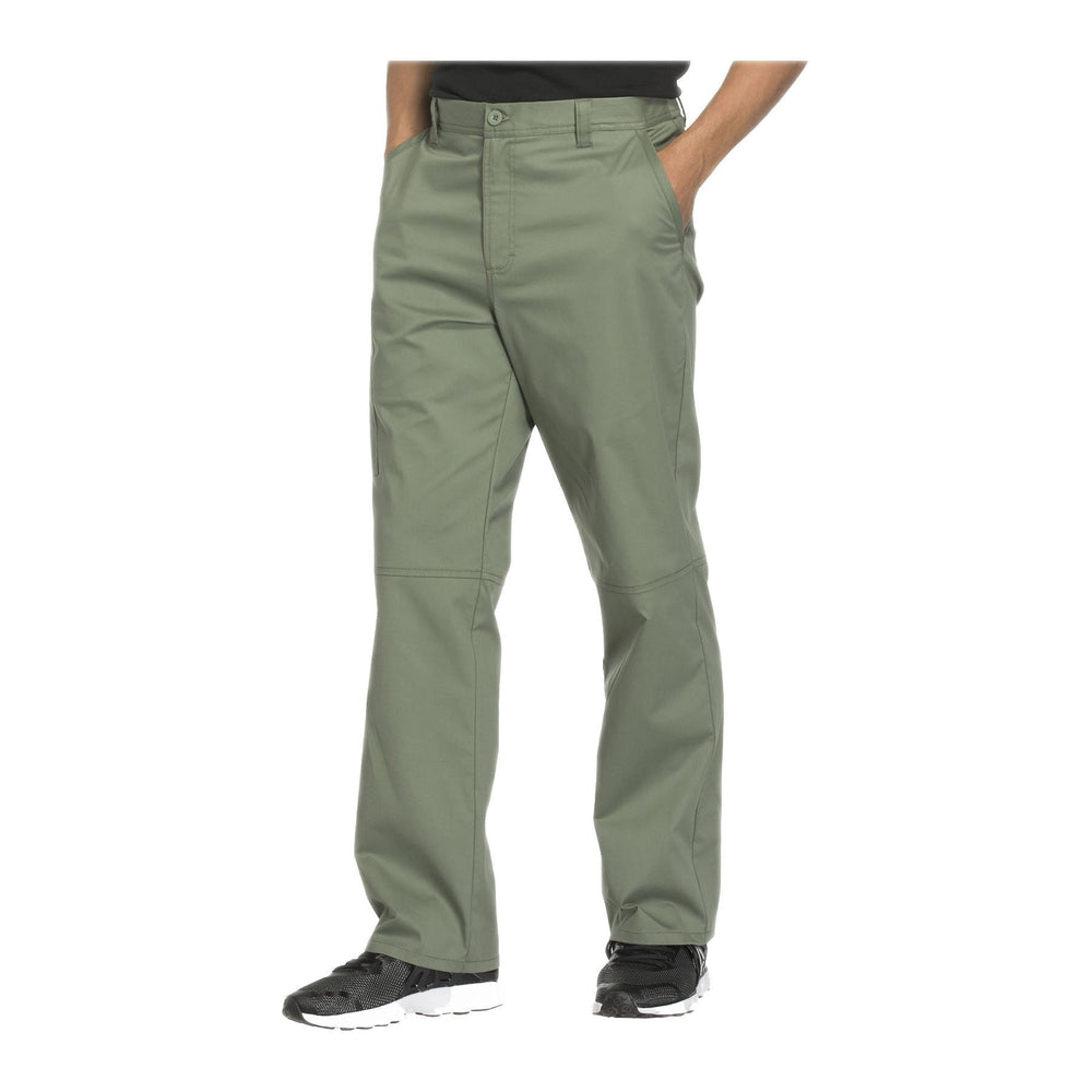 Cherokee Workwear Pant WW Core Stretch Men's Men's Fly Front Pant Olive Pant
