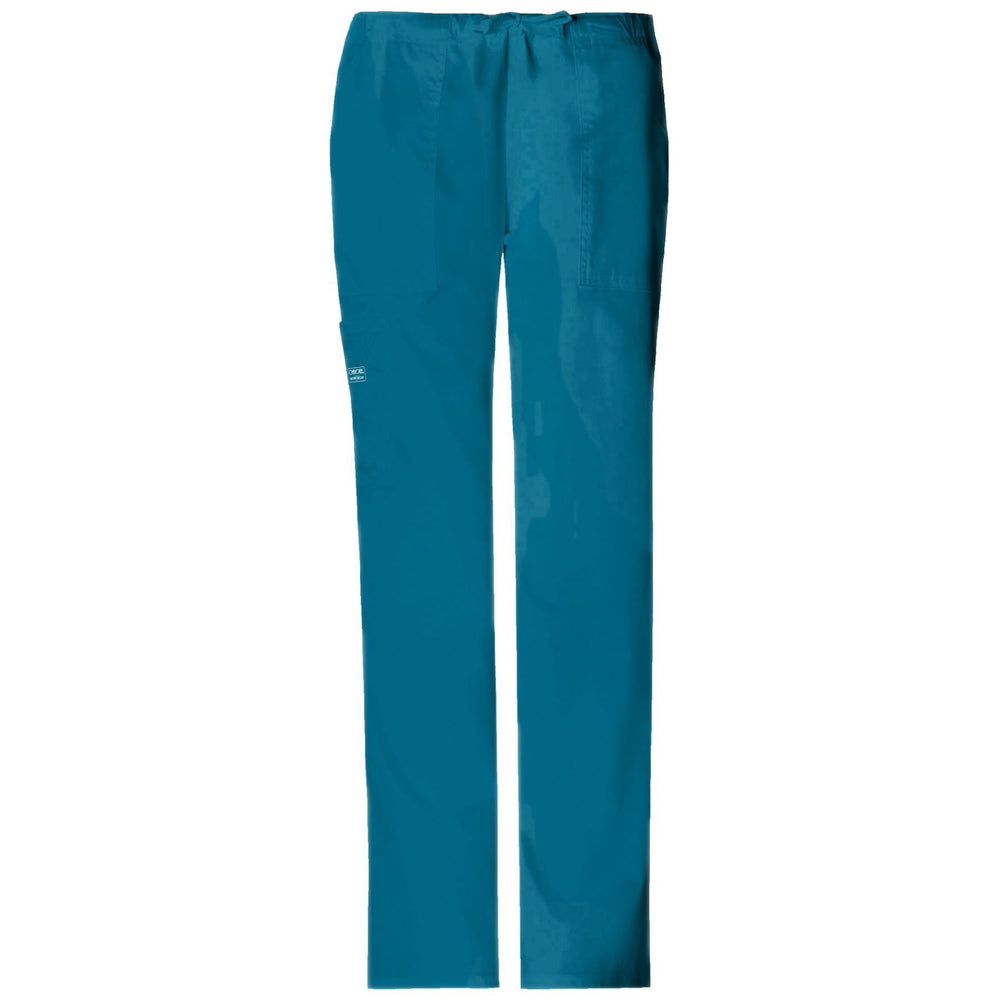 Cherokee Workwear Pant WW Core Stretch Mid Rise Drawstring Cargo Pant Caribbean Blue Pant