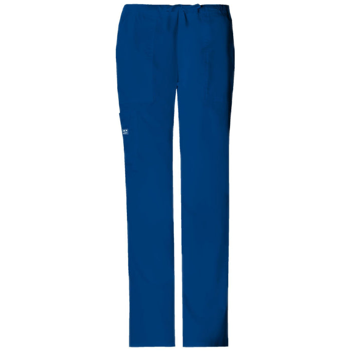 Cherokee Workwear Pant WW Core Stretch Mid Rise Drawstring Cargo Pant Galaxy Blue Pant