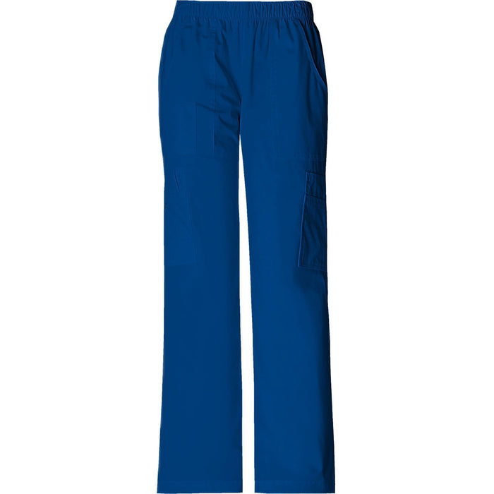 Cherokee Workwear Pant WW Core Stretch Mid Rise Pull-On Pant Cargo Pant Galaxy Blue Pant