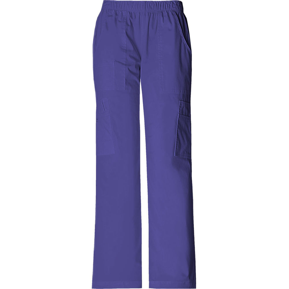 Cherokee Workwear Pant WW Core Stretch Mid Rise Pull-On Pant Cargo Pant Grape Pant