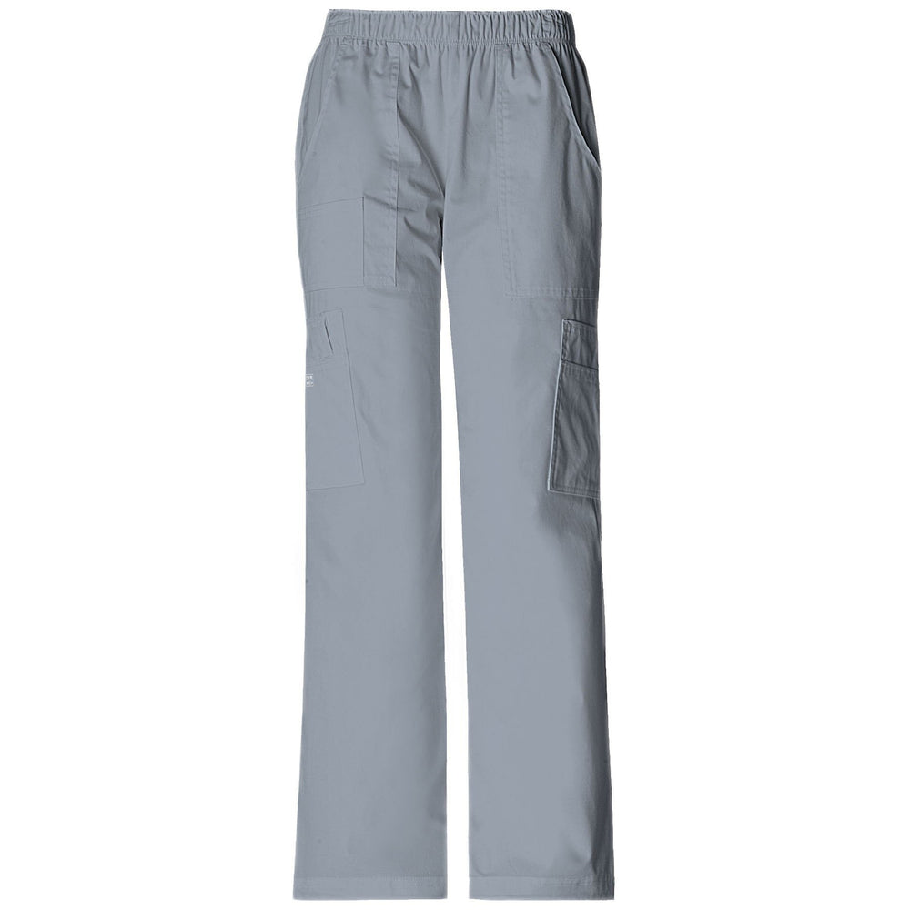 Cherokee Workwear Pant WW Core Stretch Mid Rise Pull-On Pant Cargo Pant Grey Pant
