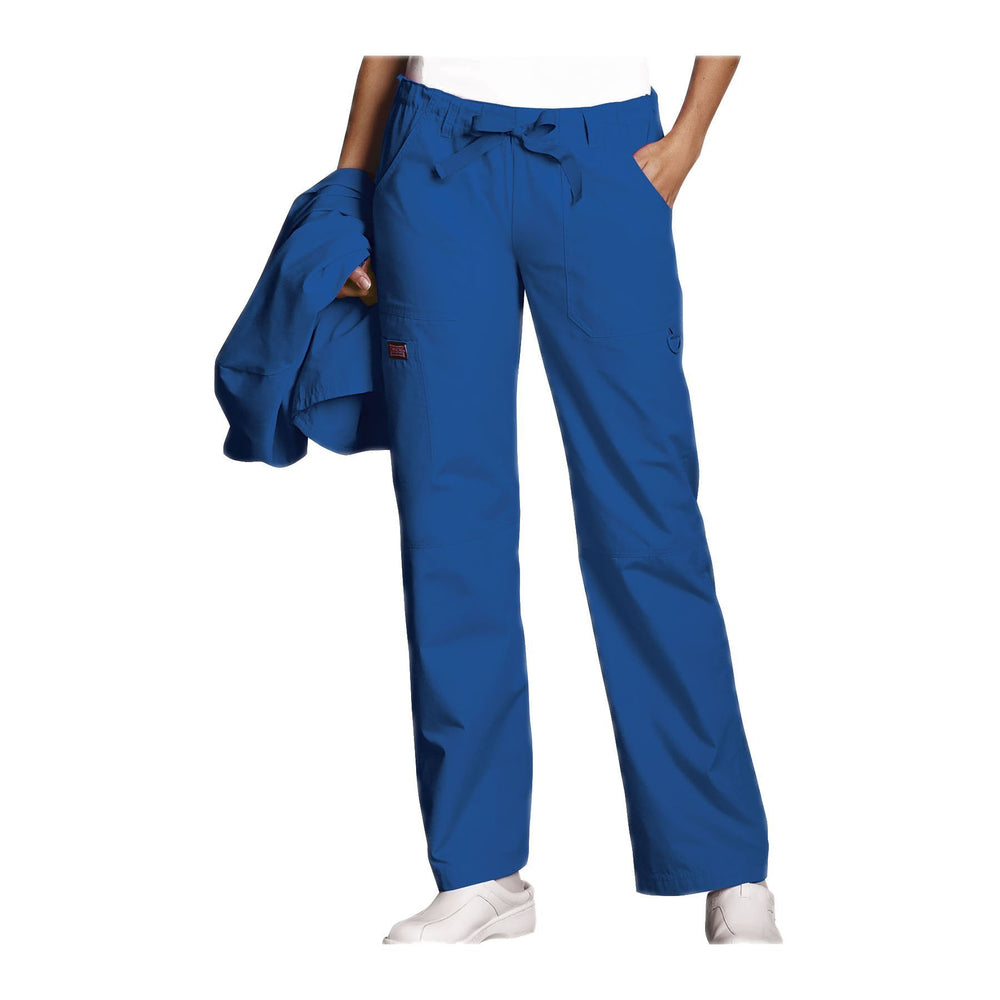 Cherokee Workwear Pant WW Low Rise Drawstring Cargo Pant Royal Pant