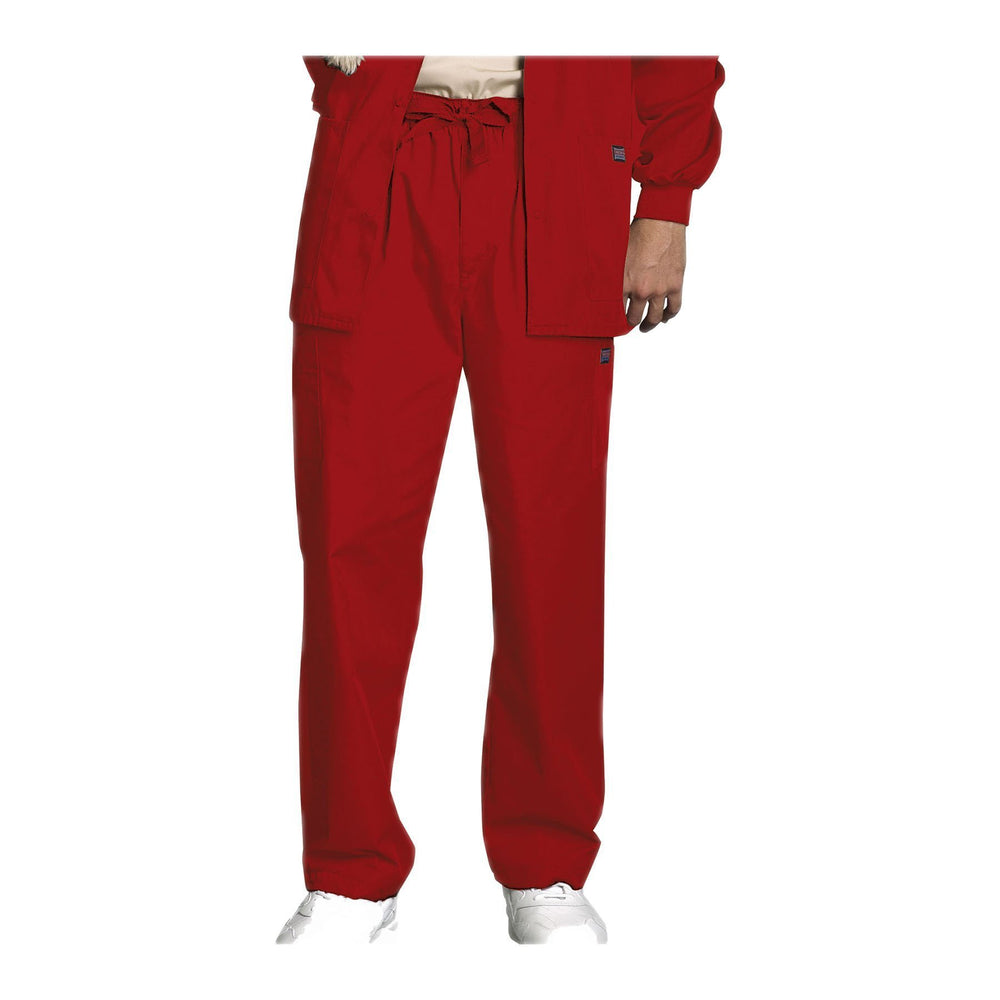 Cherokee Workwear Pant WW Men's Men's Drawstring Cargo Pant Red Pant