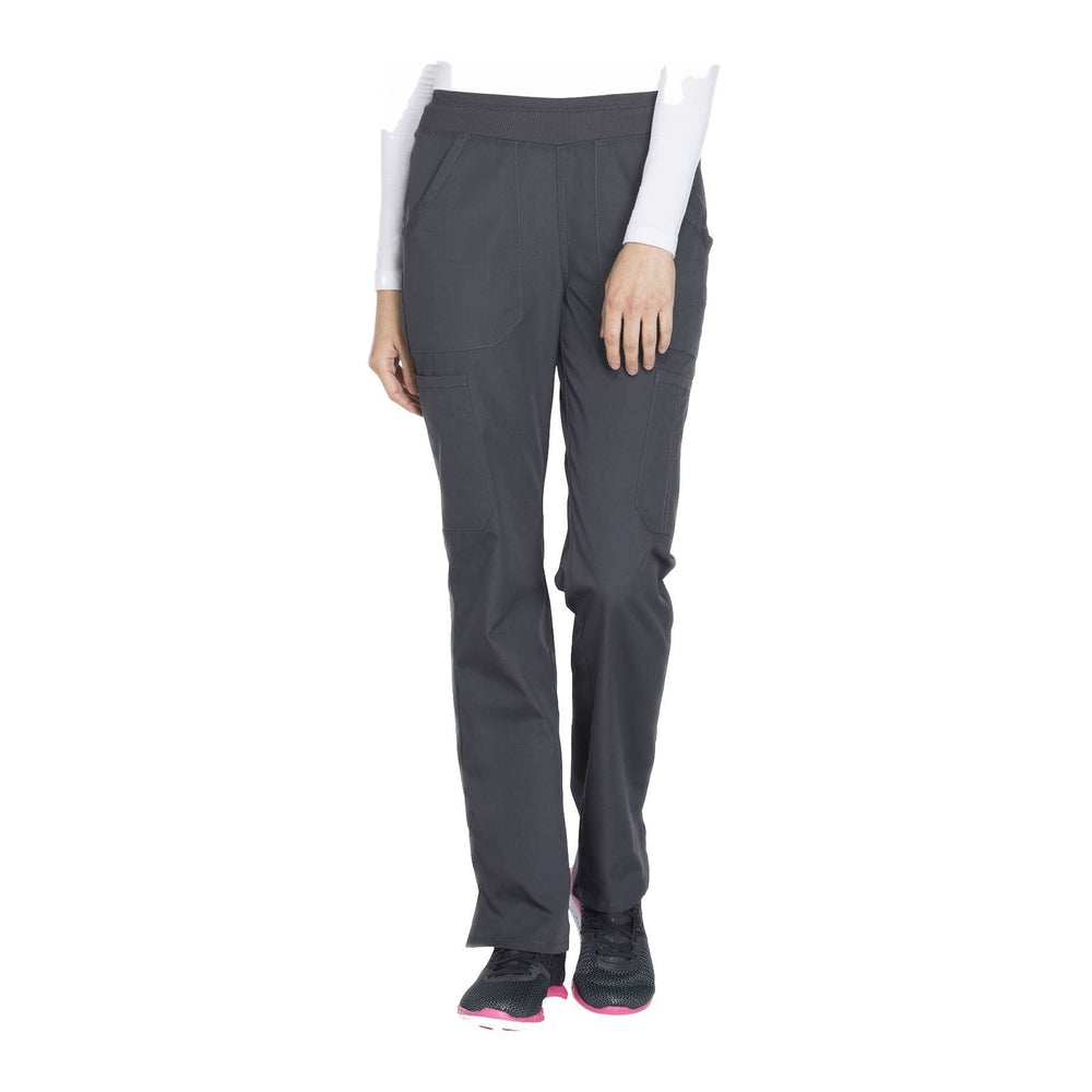 Cherokee Workwear Pant WW Mid Rise Straight Leg Pull-on Cargo Pant Pewter Pant