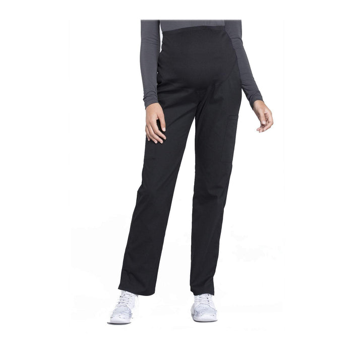 Cherokee Workwear Pant WW Professionals Maternity Straight Leg Pant Black Pant