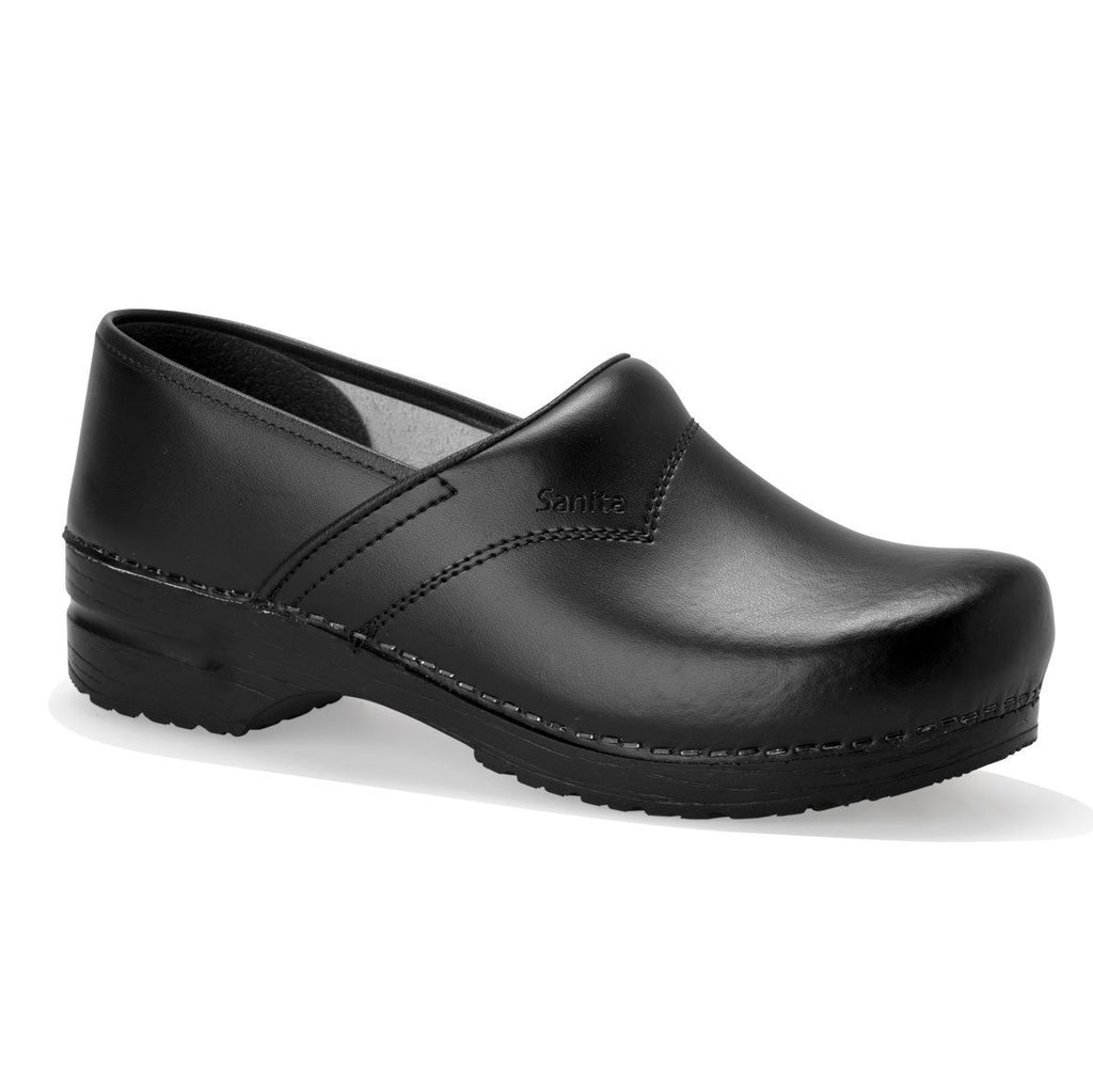 Black / 35 Sanita San Flex Clog Closed Heel Shoes