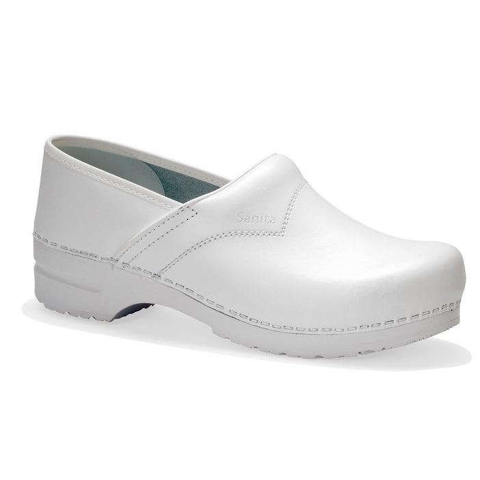 Sanita San Flex Clog Closed Heel White