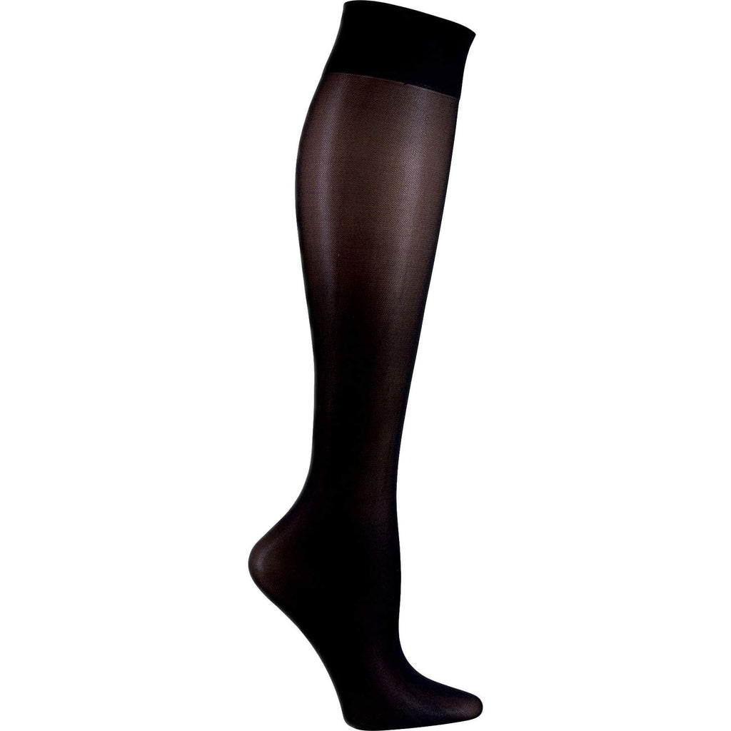 Cherokee Socks/Hosiery Cherokee Footwear Knee Highs 12 mmHg Compression Black Socks/Hosiery