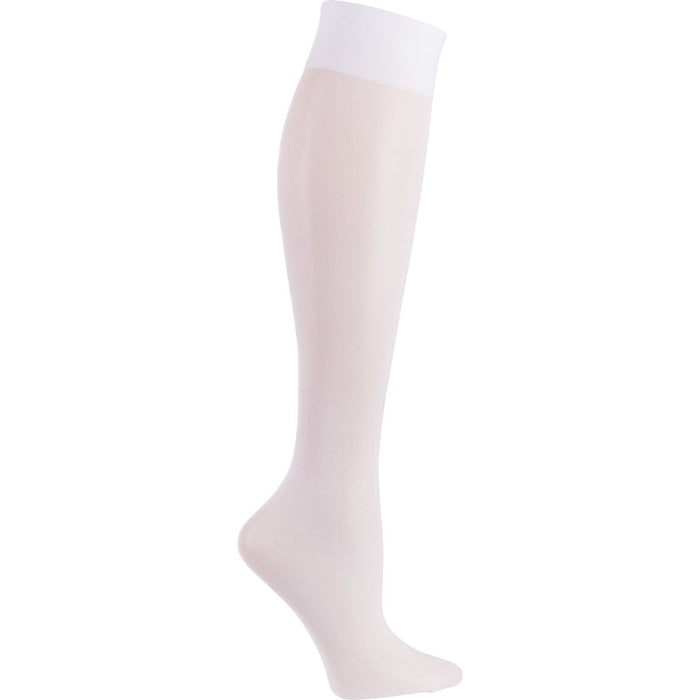 Cherokee Socks/Hosiery Cherokee Footwear Knee Highs 12 mmHg Compression White Socks/Hosiery