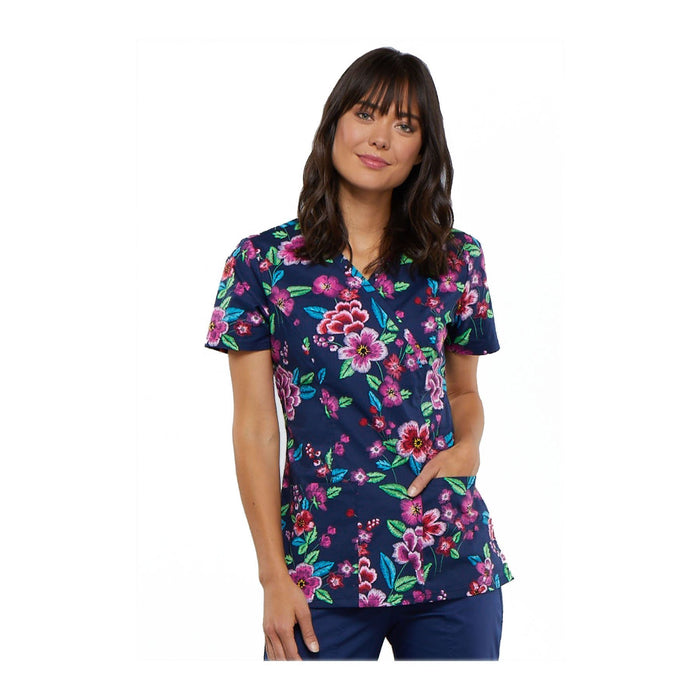 Cherokee Scrub Top Cherokee Genuine Mock Wrap Top Stitch By Stitch Top