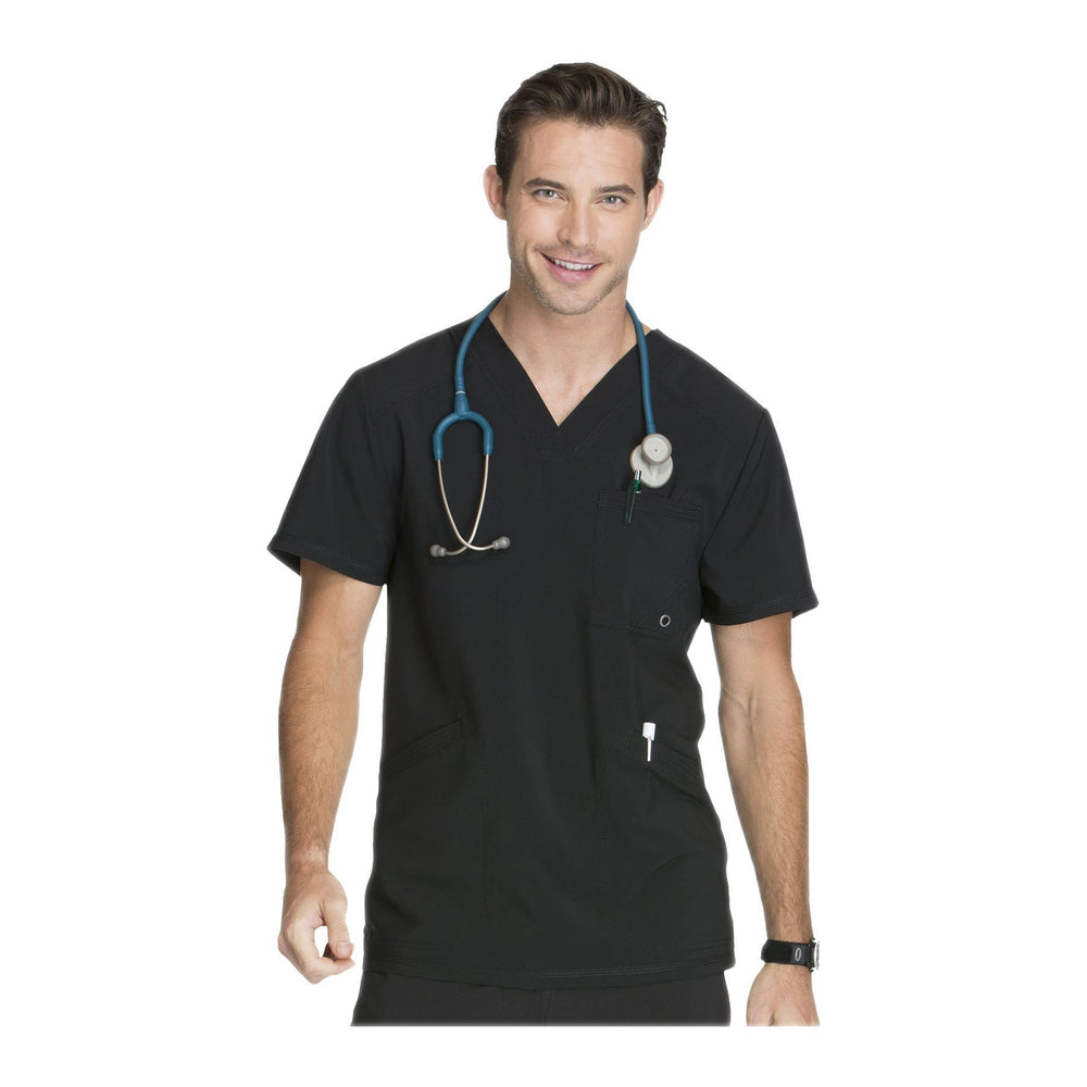 Cherokee Scrub Top Infinity Men V-Neck Top Black Top