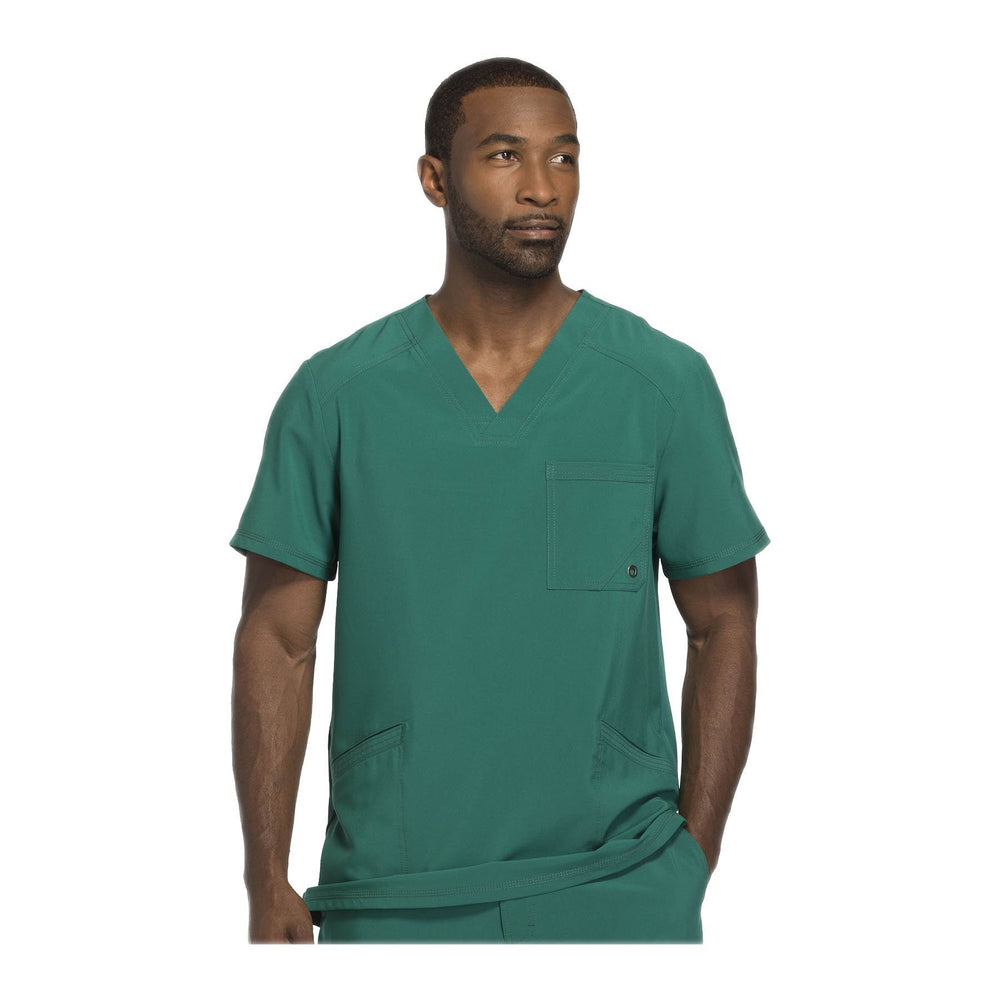 Cherokee Scrub Top Infinity Men V-Neck Top Hunter Green Top