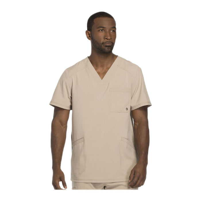 Cherokee Scrub Top Infinity Men V-Neck Top Khaki Top