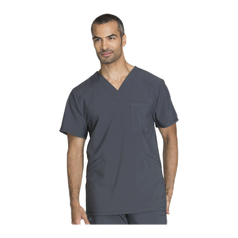 Cherokee Scrub Top Infinity Men V-Neck Top Pewter Top