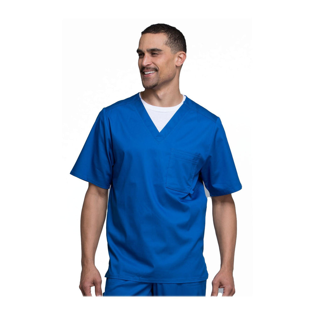Cherokee Scrub Top Luxe for Men V-Neck Top Royal Top