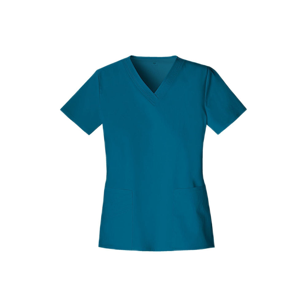 Cherokee Scrub Top Luxe V-Neck Top Caribbean Blue Top