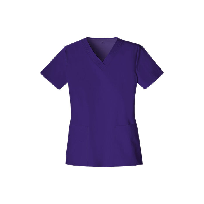 Cherokee Scrub Top Luxe V-Neck Top Nu-Grape Top
