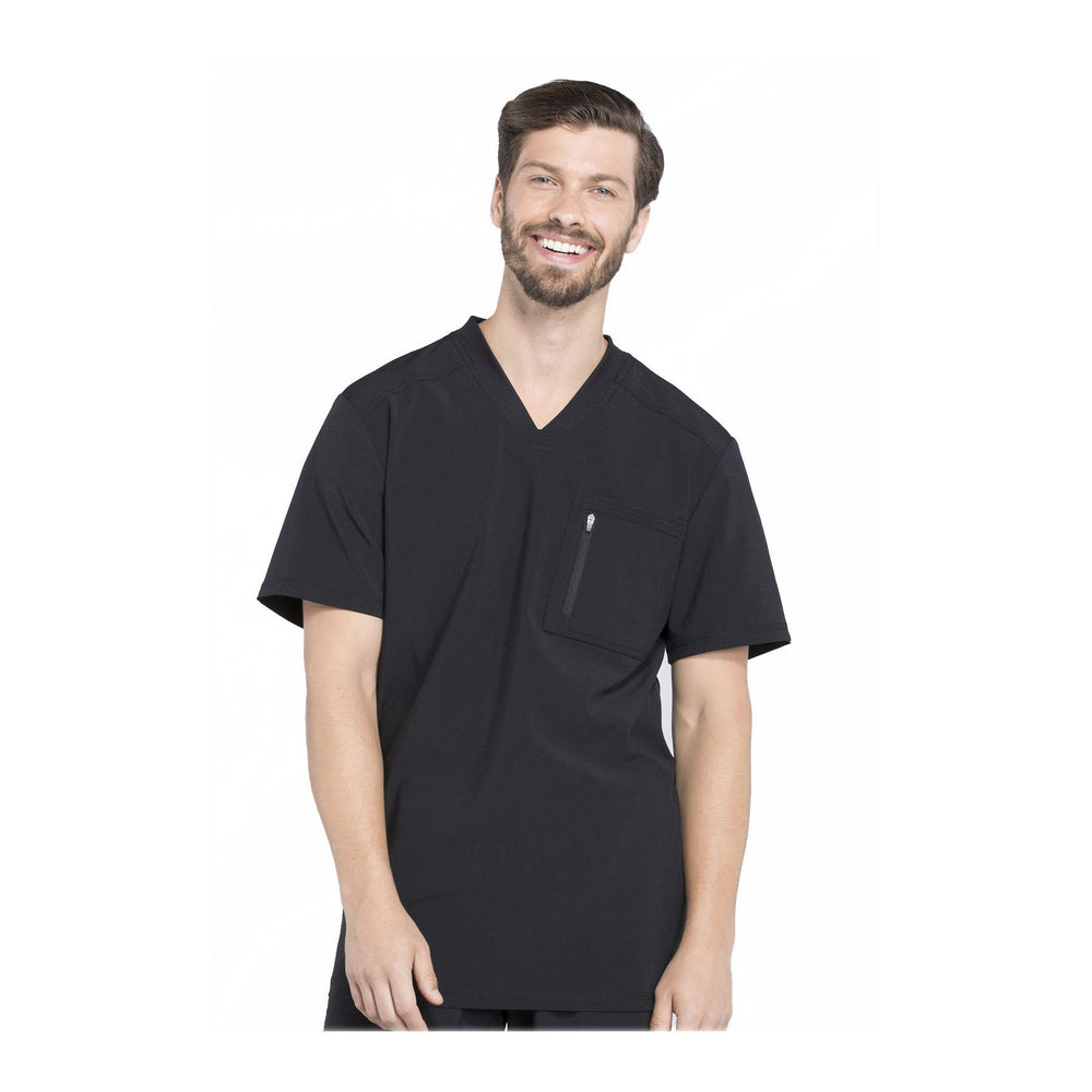 Cherokee Scrubs CK910A Infinity Men Top Mens Black Top