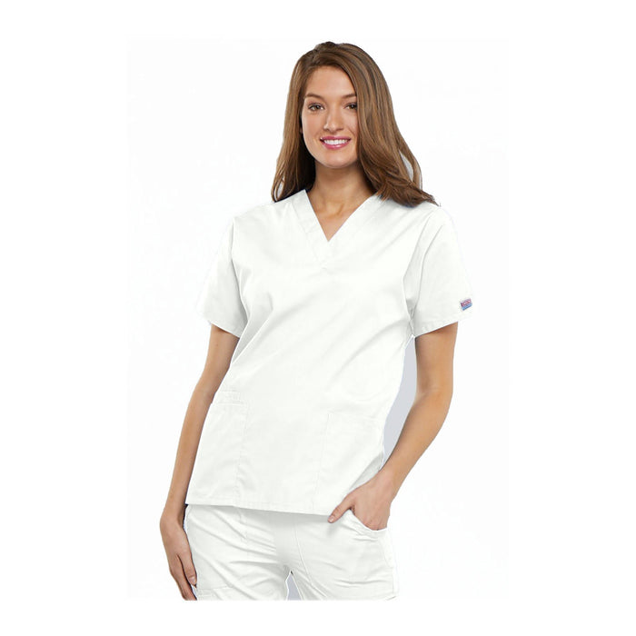 Cherokee Scrubs Workwear 4700 WW Top Traditional Classic White Top