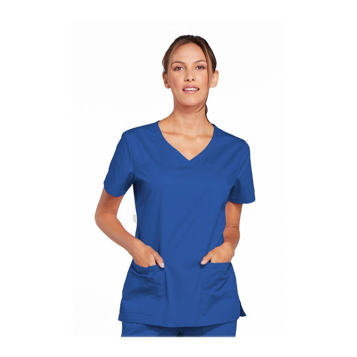 Cherokee Scrubs Workwear 4727 WW Core Stretch Top Modern Classic Royal Top