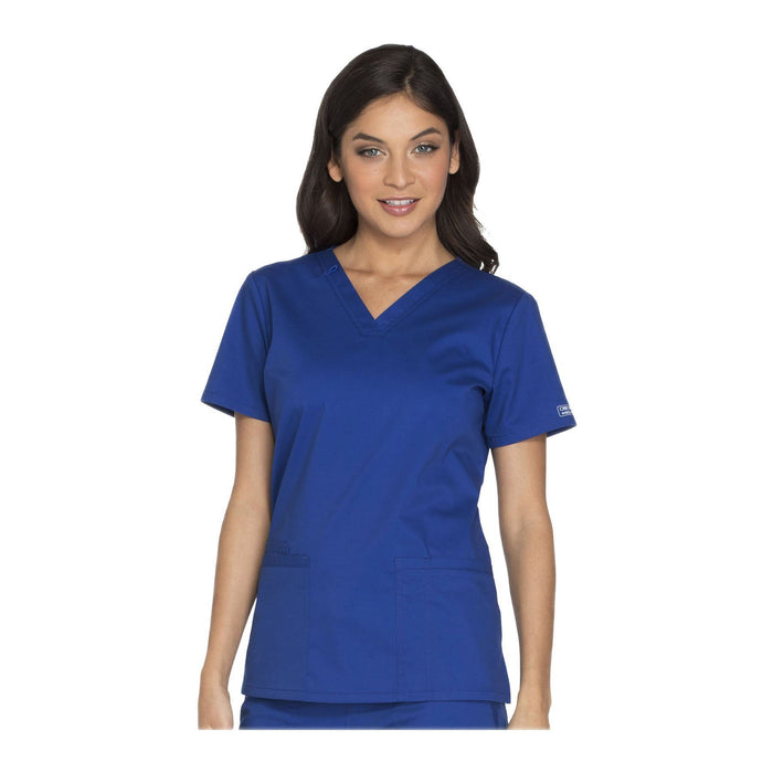 Cherokee Scrubs Workwear WW630 WW Core Stretch Top Modern Classic Galaxy Blue Top