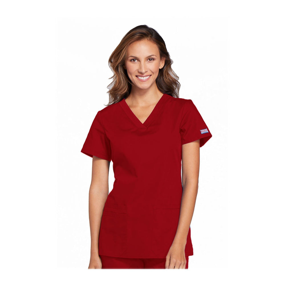 Cherokee Scrubs Workwear WW645 WW Top Contemporary Red Top