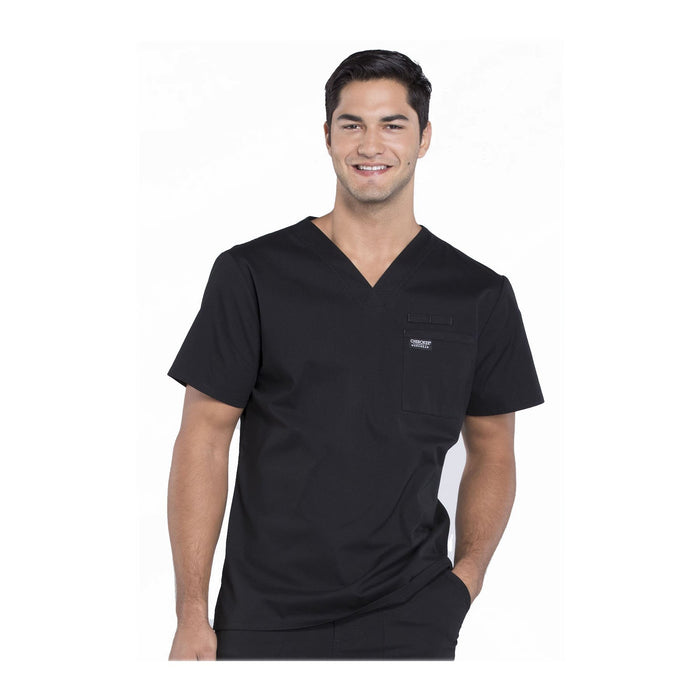 Cherokee Scrubs Workwear WW675 WW Professionals Mens Top Mens Black Top