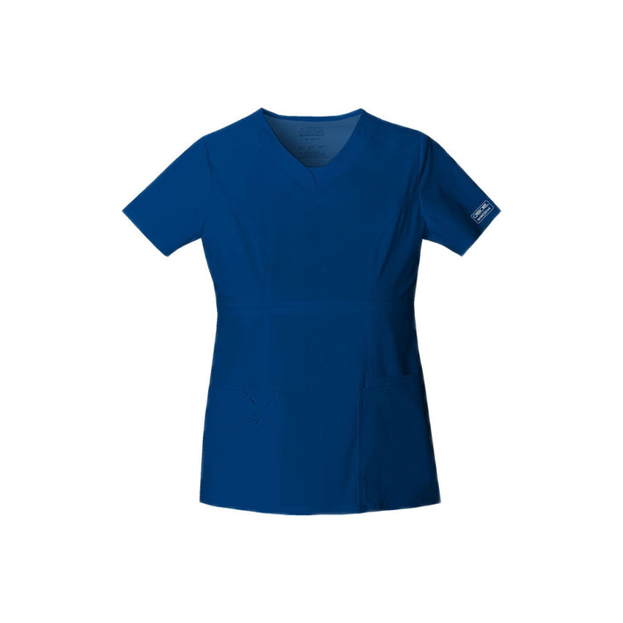 Cherokee Workwear Top WW Core Stretch Contemporary Fit V-Neck Top Galaxy Blue Top