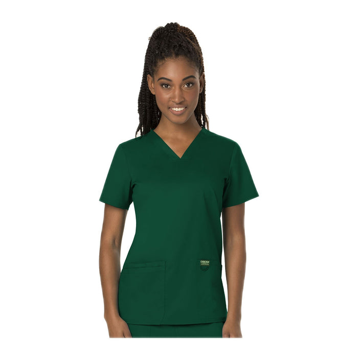 Cherokee Workwear Top WW Revolution V-Neck Top Hunter Green Top