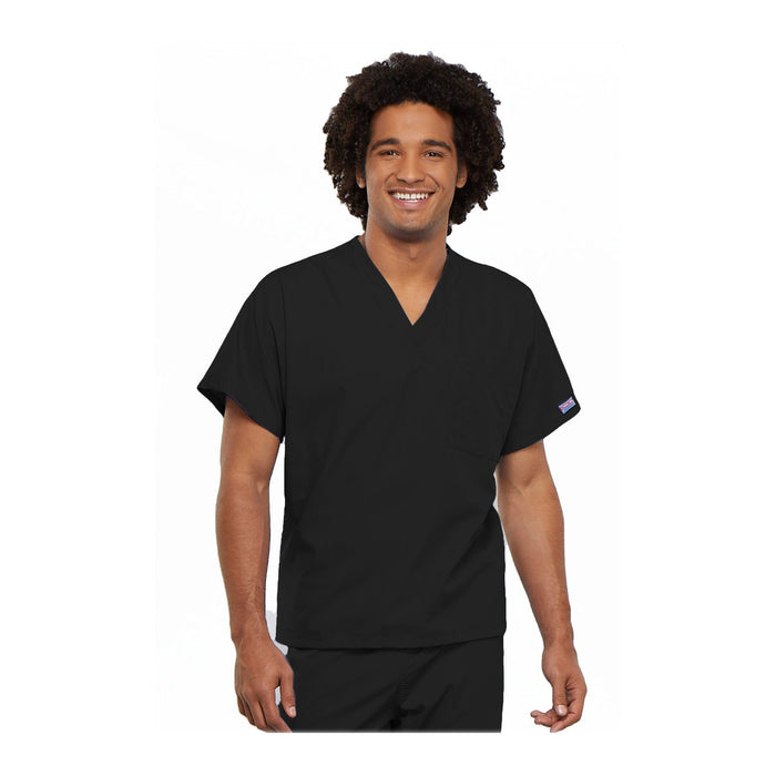 Cherokee Workwear Top WW Unisex Unisex V-Neck Tunic Black Top