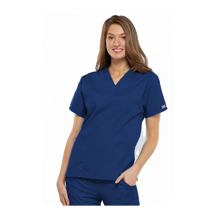 Cherokee Workwear Top WW V-Neck Top Galaxy Blue Top