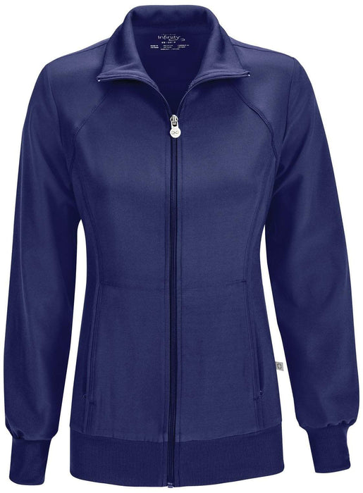 Cherokee Scrubs 2391A Infinity Warm Up Jacket Contemporary Navy Warm Up Jacket
