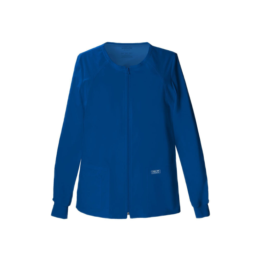 Cherokee Workwear Warm Up Jacket WW Core Stretch Zip Front Warm-Up Jacket Galaxy Blue Warm Up Jacket