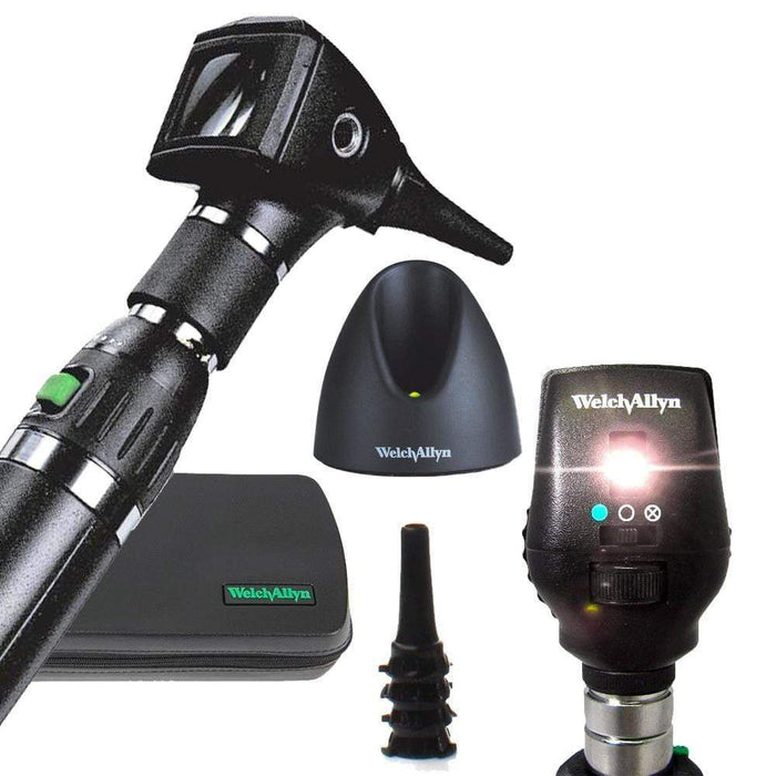 Welch Allyn Diagnostic Sets Standard 20000 Otoscope / Coaxial 11720 / Lithium-Ion Handle Welch Allyn 3.5V Otoscope and Ophthalmoscope Diagnostic Sets
