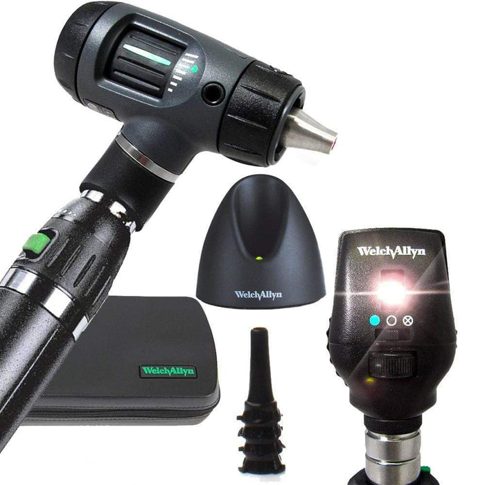 Welch Allyn Diagnostic Sets Macroview 23820 Otoscope / Coaxial 11720 / Lithium-Ion Handle Welch Allyn 3.5V Otoscope and Ophthalmoscope Diagnostic Sets