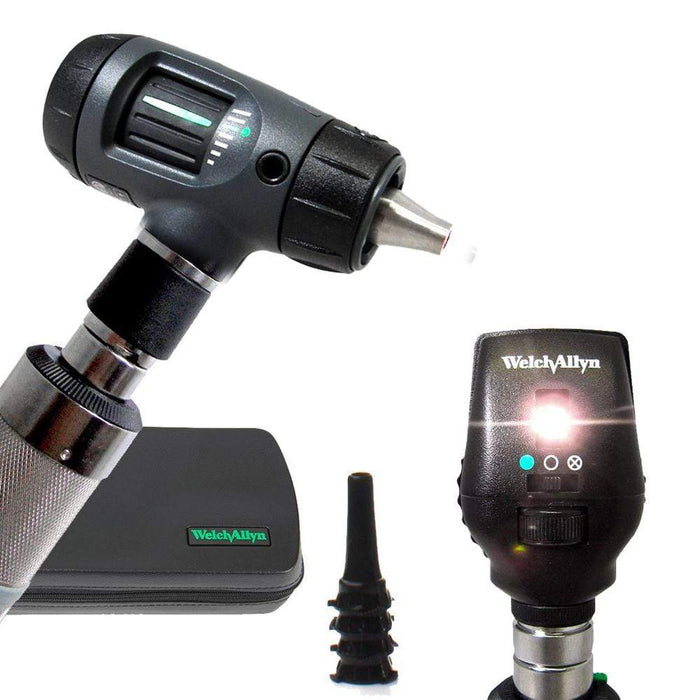 Welch Allyn Diagnostic Sets Macroview 23820 Otoscope / Coaxial 11720 / C-Cell Non-rechargeable Handle Welch Allyn 3.5V Otoscope and Ophthalmoscope Diagnostic Sets