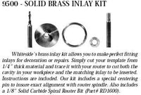 Whiteside Solid Brass Inlay Kit (9500)