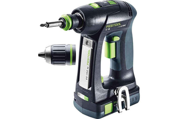 Festool 575674 Cordless Drill C18 I-Compact Cordless Li-Ion Drill Set with 3.1 Ah Bluetooth Batteries
