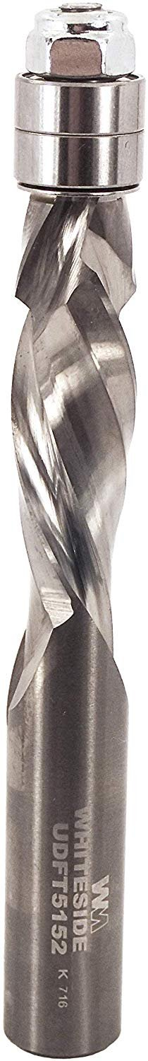 "Whiteside Flush Trim Spiral Bit with Up/Down 1/2"" Cutting Diameter & 1-1/2"" Cutting Length (UDFT5152)"