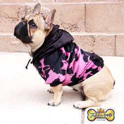 GIRLY LIFE Animal Print Dog Hoodie - Fabbie Dog
