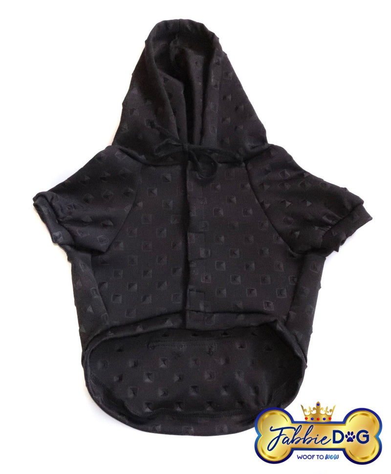 STUD IN ME Black Diamond Dog Hoodie - Fabbie Dog