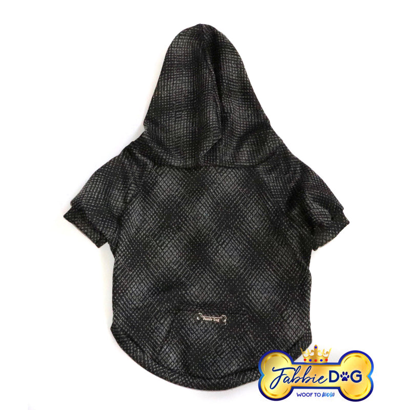 NIGHT RIDER Sophisticated Black Dog Hoodie - Fabbie Dog