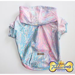 PASTEL LOVER Faux Snakeskin Dog Hoodie - Fabbie Dog