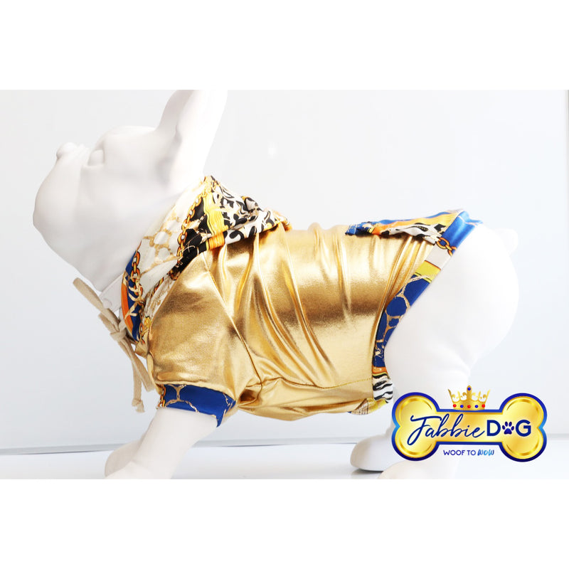 ROYAL GOLD Metallic Gold Dog Hoodie - Fabbie Dog
