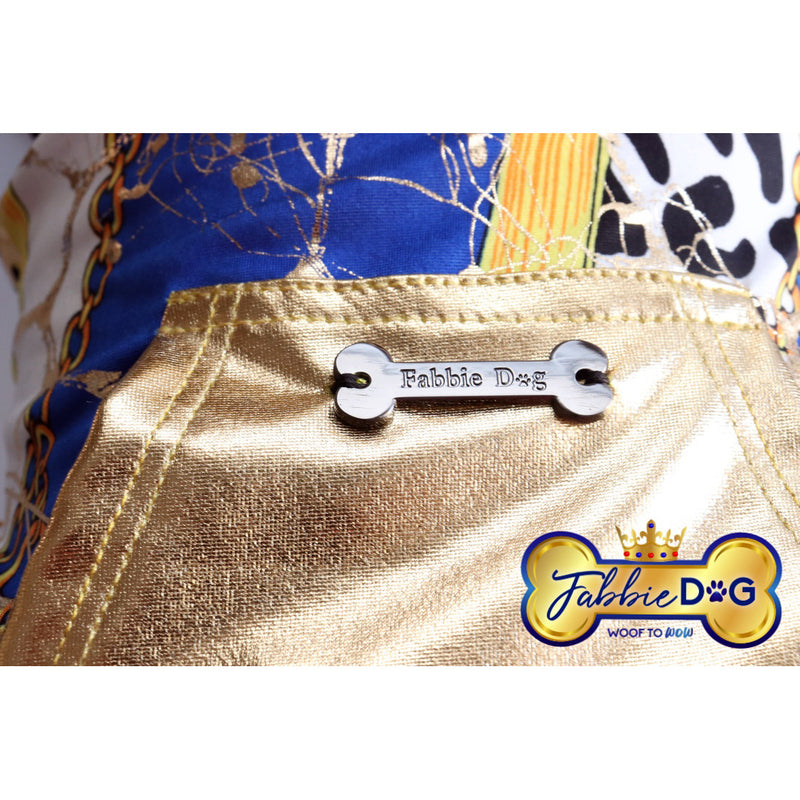 GOLD IS ROYAL Metallic Gold Dog Hoodie - Fabbie Dog