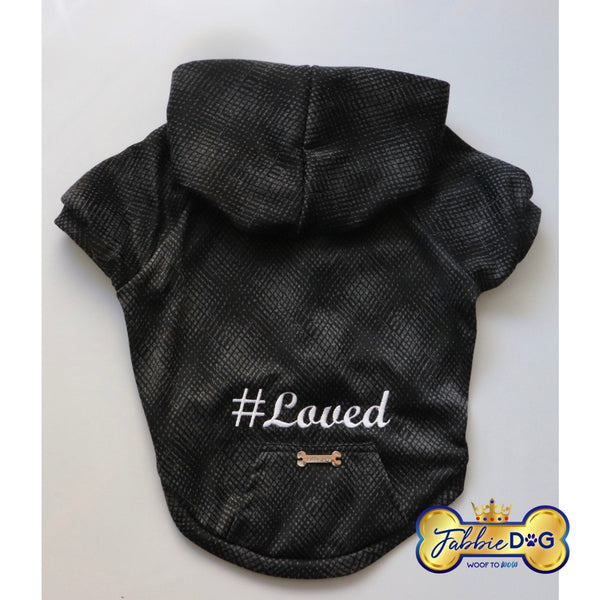 LOVED Embroidered Dog Hoodie - Fabbie Dog