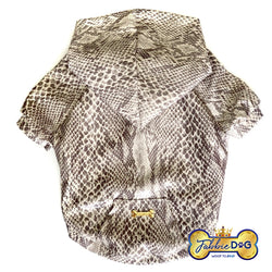 RATTLE ME Faux Snakeskin Dog Hoodie - Fabbie Dog
